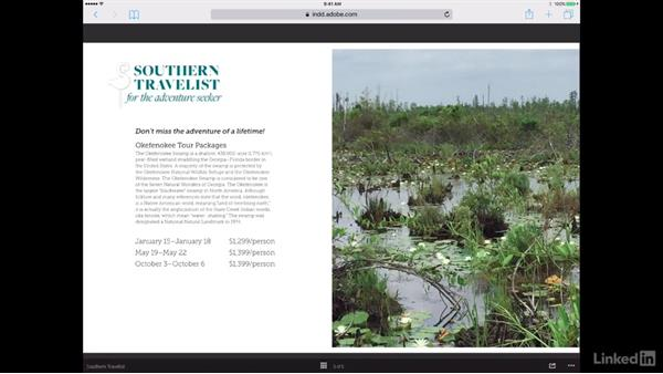 View projects on tablet devices: Publish Online with InDesign