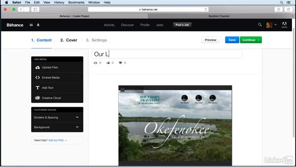Add projects to Behance: Publish Online with InDesign
