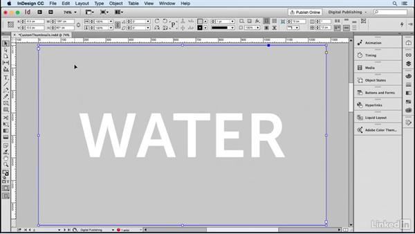 Create customized thumbnails: Publish Online with InDesign