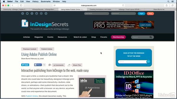 Next steps: Publish Online with InDesign