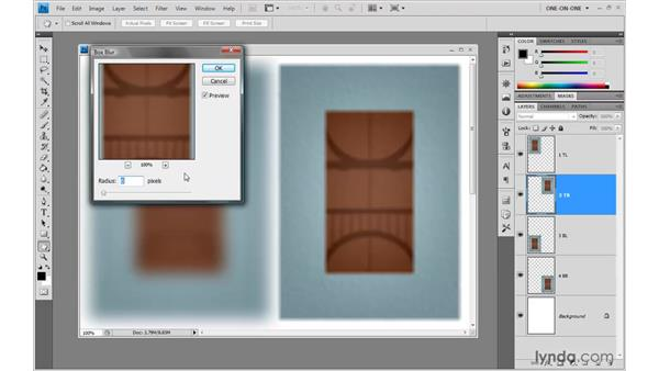 The linear Box Blur: Photoshop CS4 One-on-One: Advanced