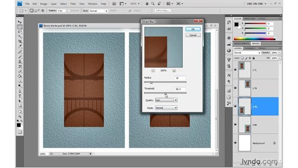 Smart Blur vs. Surface Blur: Photoshop CS4 One-on-One: Advanced