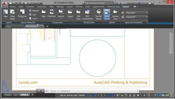 Making viewports from objects: AutoCAD: Plotting & Publishing