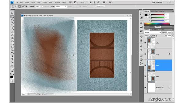 Radial Blur's Spin and Zoom variations: Photoshop CS4 One-on-One: Advanced