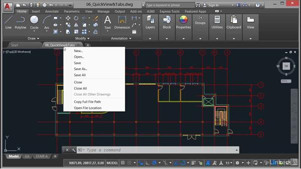 Drawing tabs: AutoCAD: Plotting & Publishing