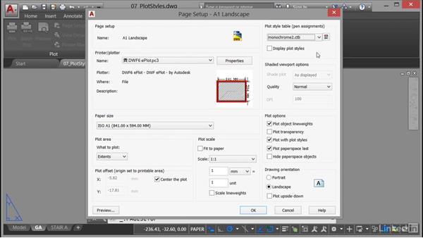 Changing plot styles: AutoCAD: Plotting & Publishing