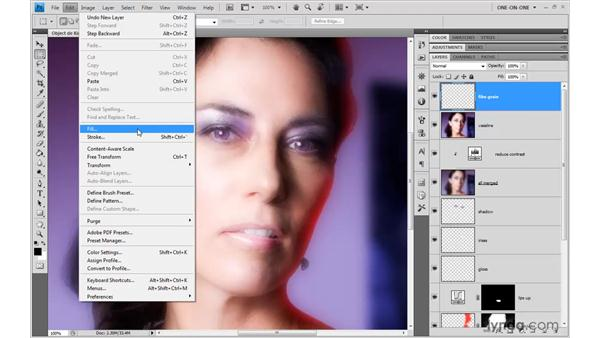 Simulating Vaseline and film grain: Photoshop CS4 One-on-One: Advanced