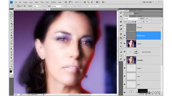 Filling a layer with a neutral color: Photoshop CS4 One-on-One: Advanced