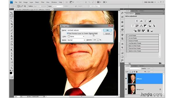 Old-school contrast reduction: Photoshop CS4 One-on-One: Advanced