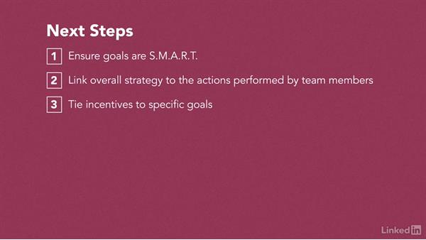 Next steps: How to Set Team and Employee Goals