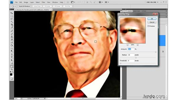 Three steps to diffused focus: Photoshop CS4 One-on-One: Advanced