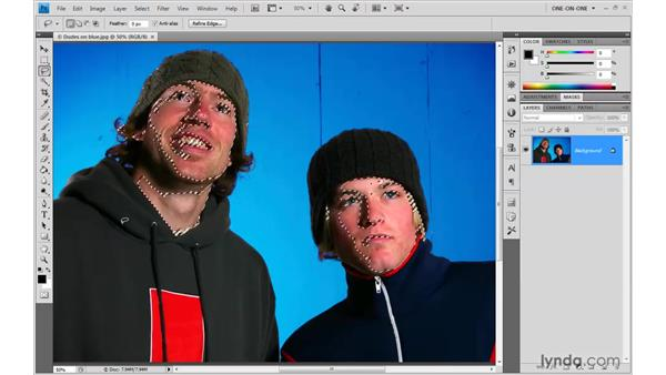 Averaging skin tones: Photoshop CS4 One-on-One: Advanced
