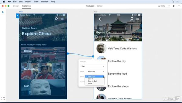 Overview of the Prototype mode: Adobe Experience Design CC: First Look