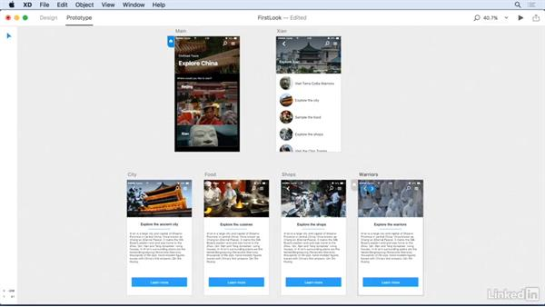 How to link artboards and content to each other: Adobe Experience Design CC: First Look