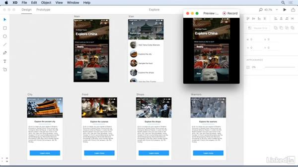 Using project previews: Adobe Experience Design CC: First Look