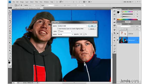 Addressing the stubborn patches: Photoshop CS4 One-on-One: Advanced