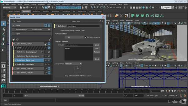 Understanding layers and collections: Maya: Render Setup System