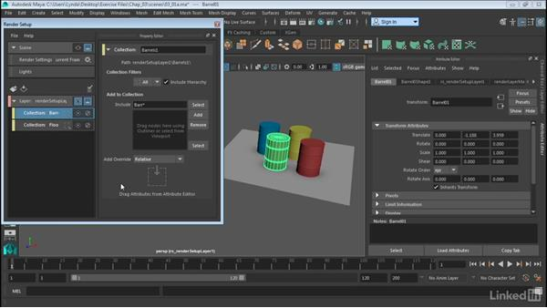 Create overrides for object attributes: Maya: Render Setup System