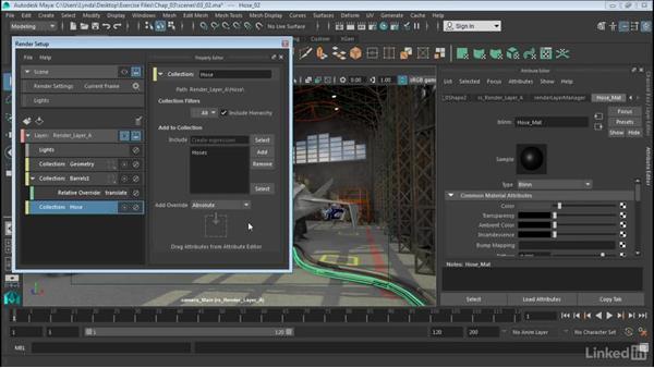 Override shading attributes: Maya: Render Setup System