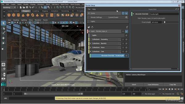 Adjust camera attributes: Maya: Render Setup System