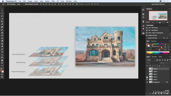 Building up a painting with layers: Natural-Media Painting in Photoshop