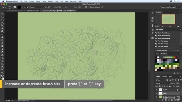 Starting the underpainting: Natural-Media Painting in Photoshop