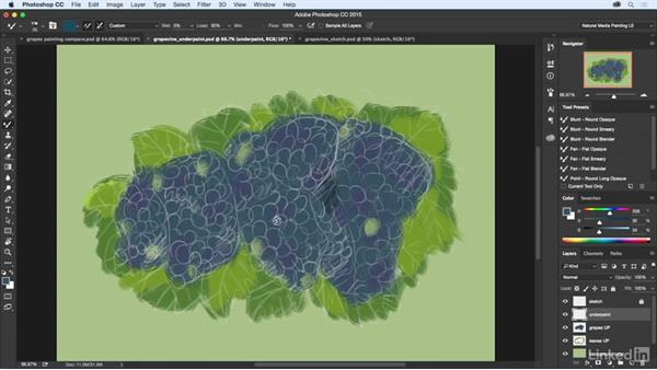 Adding the intermediate painting layer: Natural-Media Painting in Photoshop