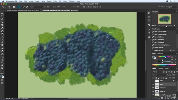 Detailing the painting: Natural-Media Painting in Photoshop