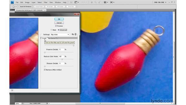 Smoothing over JPEG artifacts: Photoshop CS4 One-on-One: Advanced