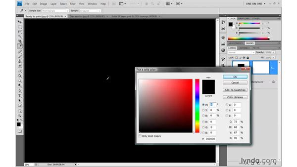 Creating a dynamic fill layer: Photoshop CS4 One-on-One: Advanced