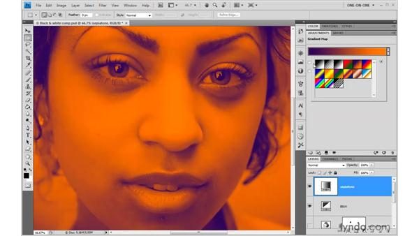 Introducing Gradient Map: Photoshop CS4 One-on-One: Advanced