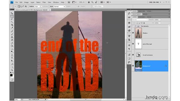 Inverting and brightening the background: Photoshop CS4 One-on-One: Advanced