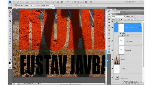 Blurring live, editable type: Photoshop CS4 One-on-One: Advanced