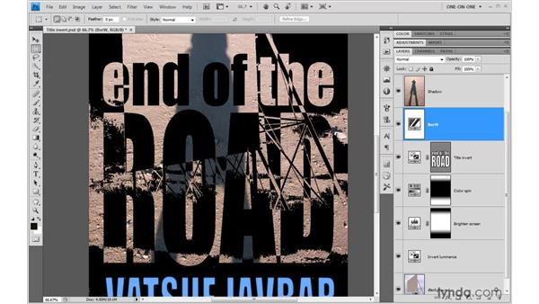 Using one adjustment to modify another: Photoshop CS4 One-on-One: Advanced
