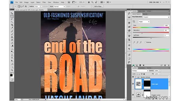 The Hue/Saturation humanoid: Photoshop CS4 One-on-One: Advanced