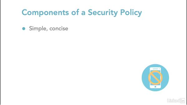 Creating security policies: Introduction to Ethical Hacking