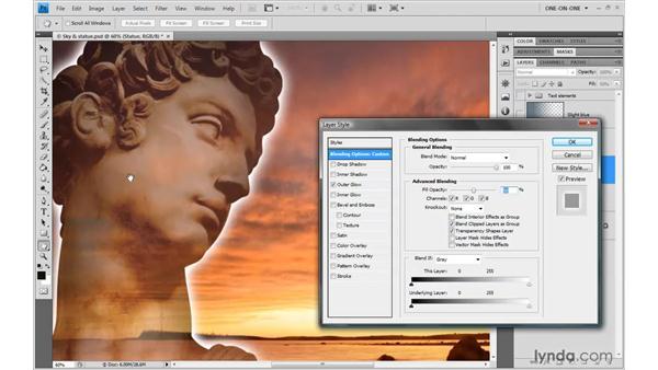 Opacity vs. Fill Opacity: Photoshop CS4 One-on-One: Advanced
