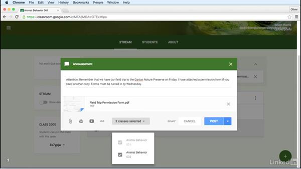 Post an announcement: Learn Google Classroom 2016