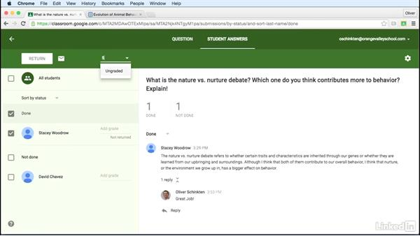 Grade a question: Learn Google Classroom 2016
