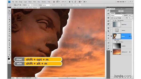 Darken, Multiply, and the Burn modes: Photoshop CS4 One-on-One: Advanced