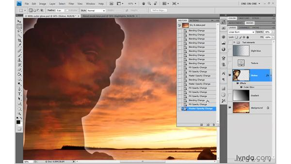 Tempering a Burn effect with Fill: Photoshop CS4 One-on-One: Advanced