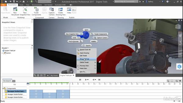 Add and remove trails: Autodesk Inventor: Presentations