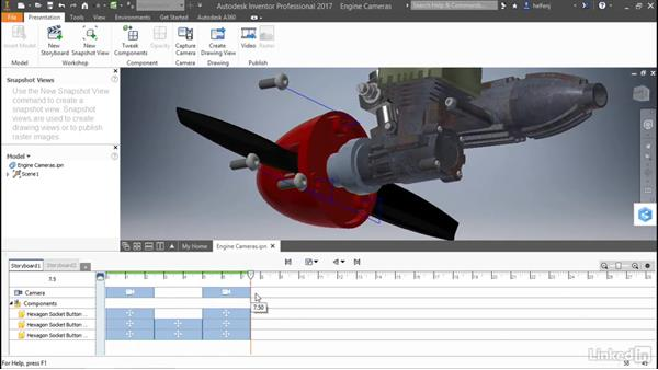 Add and edit a camera: Autodesk Inventor: Presentations