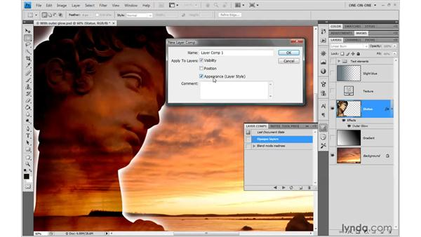 Saving a blended state: Photoshop CS4 One-on-One: Advanced