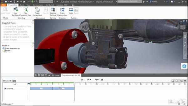 Create animations: Autodesk Inventor: Presentations