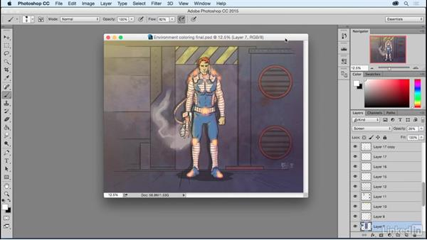 Using the exercise files and what you should know: Photoshop: Coloring Comic Book Characters
