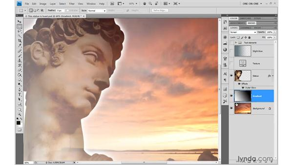 Lighten, Screen, and the Dodge modes: Photoshop CS4 One-on-One: Advanced
