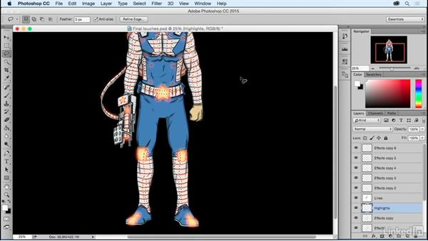 Final touches: Photoshop: Coloring Comic Book Characters