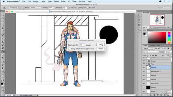 Setting the scene: Adding a background: Photoshop: Coloring Comic Book Characters