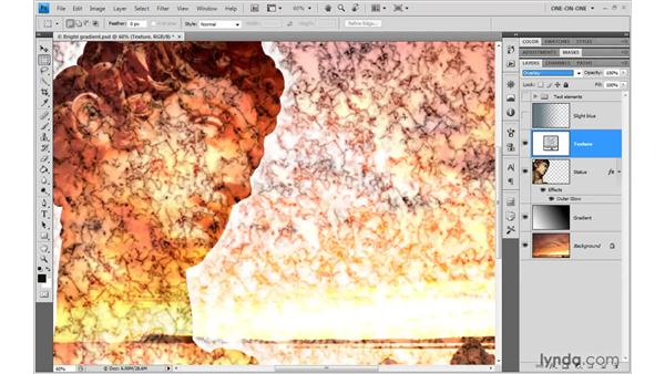 Overlay and the contrast modes: Photoshop CS4 One-on-One: Advanced